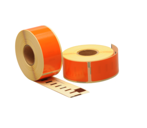 Dymo 99010 kompatible Etiketten, 89mm x 28mm, 260 Etiketten, orange, permanent